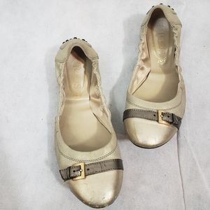 Tod's Ballet Buckle Flats Made in Italy
